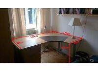 Ikea desk - large corner desk with optional extension