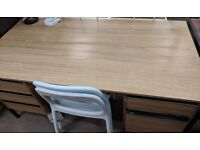 Large Mid Century Style Office Desk - Very Sturdy - Free if you can Collect