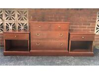 G Plan bedside tables and chest of drawers