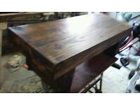 new coffee table hand made in railway sleepers