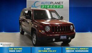 2015 Jeep Patriot North 4x4, Keyless, Ontario Vehicle, $58/Wk!