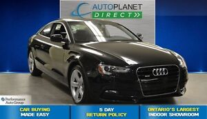 2013 Audi A5 2.0T, Ontario Vehicle!, Leather, Alloys, $112/Wk!
