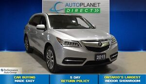2015 Acura MDX Technology Package AWD, Navi, Sunroof, $152/Wk!