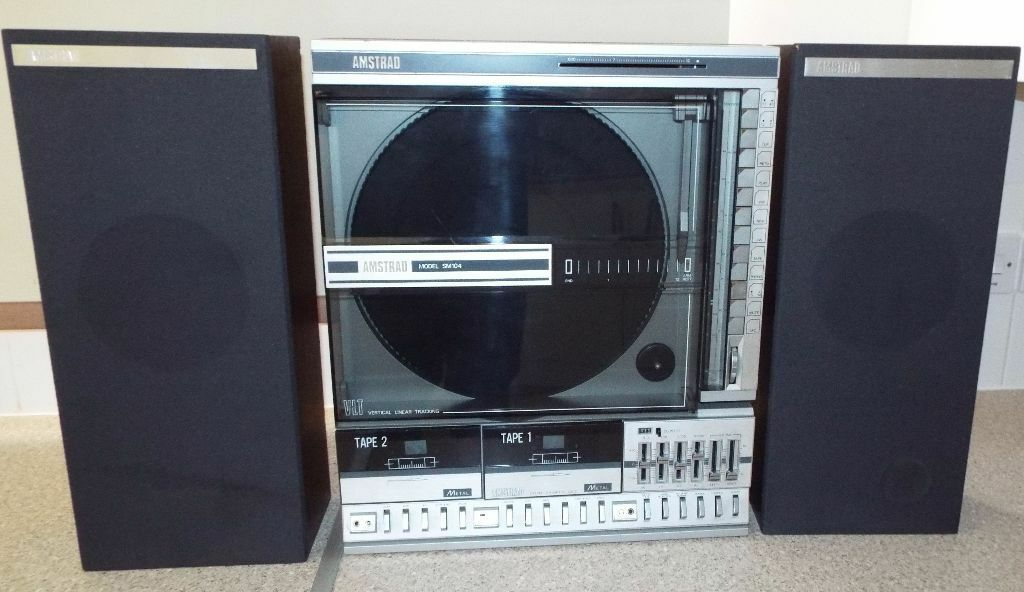 Retro Amstrad Sm104 Vertical Linear Tracking Turntable