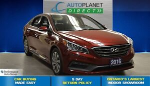 2016 Hyundai Sonata Sport Tech, Ontario Vehicle, Navi, $70/Wk!