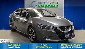 2016 Nissan Maxima SV, Ontario Vehicle, Navi, Bluetooth, $91/Wk!