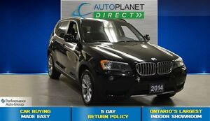 2014 BMW X3 xDrive28i, Navi, Sunroof, $148/Wk!