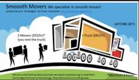 Smoooth Movers ($55/hr for 2 men) for student/ 1or2bed apt/condo