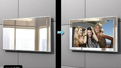 Brand New Android 22 inch HD Bathroom Waterproof LCD Mirror TV Free Post by EMS