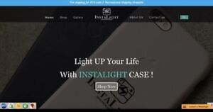 Instalightcase.com website for sale with stock
