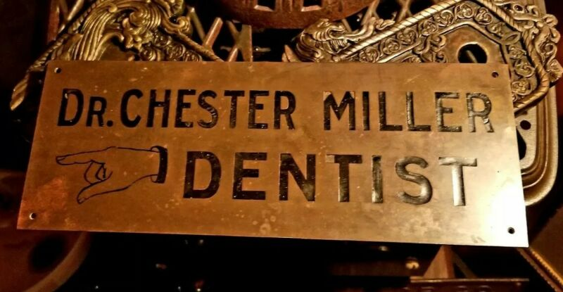 Chester Colwell Miller Antique Brass Plaque Indianapolis Indiana