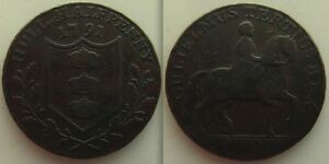 COLLECTABLE-1791-HALF-PENNY-TOKEN-YORKSHIRE-GULIELMUS-TERTIUS-REX