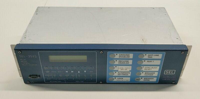 SEL Schweitzer Engineering Lab SEL-351S Relay Meter Control Fault Locator