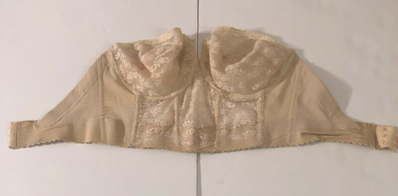 Vtg 70s/80s BackLess by Young Smoothie Strapless Lace Underwire Corset Bra 38D