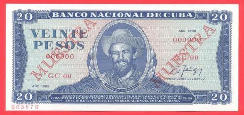 20 pesos 1988 SPECIMEN (P-105d.2s) UNC