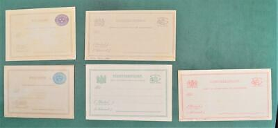 SWEDEN STAMP 5 COVERS CARDS STATIONARY UNUSED  (Z24)