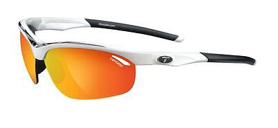 NEW Tifosi Veloce White Black Sunglasses Smoke Red/AC Red/Clear  1040104803