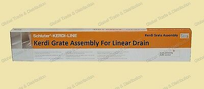 Drain System - Schluter Systems Kerdi Line Grate Assembly For Floor Linear Drain All Sizes