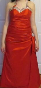 Brand new red grad dress and flat shoes