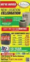 Grand opening SPECIAL new location Central Air conditioner sale