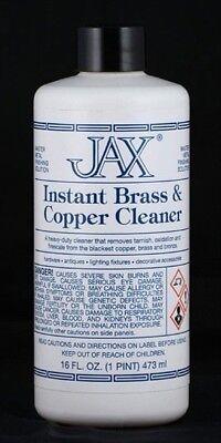 Jax Instant Brass & Copper & Bronze Cleaner for Tarnish/Oxidation 16 oz. Pint