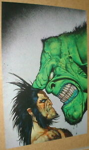 Last-one-X-men-Wolverine-Vs-Hulk-of-Avengers-Simon-Bisley-Marvel-Comics-Poster