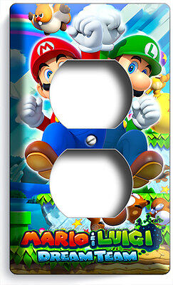 Mario And Luigi Decorations (SUPER MARIO AND LUIGI BROS ELECTRIC OUTLET WALL PLATE COVER GAME ROOM HOME)