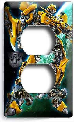 (TRANSFORMERS AUTOBOT BUMBLE BEE DUPLEX OUTLET COVER BOYS BEDROOM ROOM HOME DECOR)