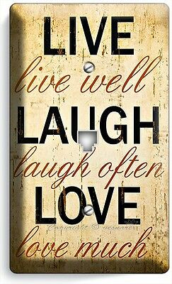 Country Kitchen Wall Phone - LIVE LAUGH LOVE RUSTIC COUNTRY PHONE JACK TELEPHONE WALL PLATE KITCHEN ROOM ART