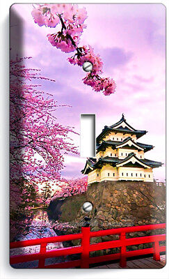 HIROSAKI CASTLE SACURA BLOOM JAPAN SINGLE LIGHT SWITCH WALL PLATES ROOM HD DECOR