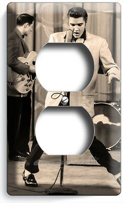 ELVIS PRESLEY ROCK N ROLL KING SINGING LIVE CONCERT OUTLET PLATE ROOM HOME DECOR (Rock N Roll Room Decor)