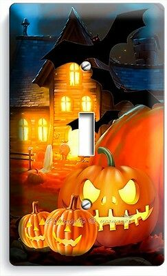 HALLOWEEN SCARY GHOST PUMPKINS SINGLE LIGHT SWITCH WALL PLATE COVER DECORATION - Scary Halloween Pumpkins
