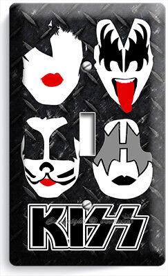 Glam Rock Decor (KISS SHOCK HARD ROCK HEAVY GLAM METAL BAND 1 GANG LIGHT SWITCH PLATES ROOM)