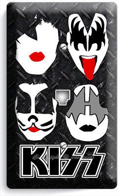 Glam Rock Decor (KISS HARD ROCK HEAVY GLAM METAL BAND PHONE TELEPHONE WALL PLATE COVER ROOM)