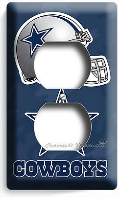 DALLAS COWBOYS FOOTBALL TEAM LOGO DUPLEX OUTLET WALL PLATE COVER ROOM HOME DECOR](Dallas Cowboys Room Decor)
