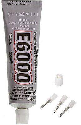 E6000 1oz Clear Adhesive Glass Fabric Rhinestones Ceramic With 3 Precision Tips