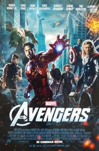 AVENGERS FINAL MOVIE POSTER ORIGINAL DOUBLE SIDED 27X40