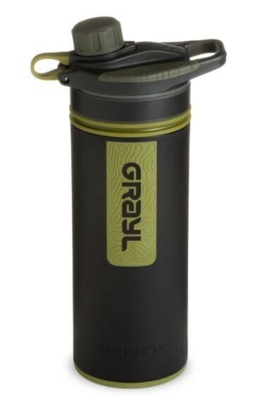 GRAYL GeoPress 24 oz Water Purifier Bottle Camo Black