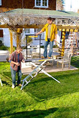 X-deck Safety Work Platform Ladder - Portable Lightweight Scaffold - 4 Step