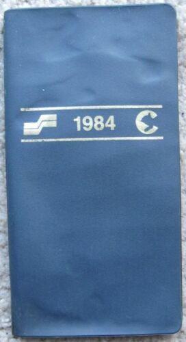1984 Chessie System & Seaboard Railroad pocket calendar
