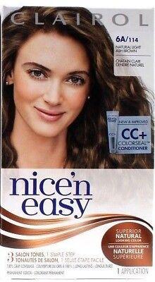 - 1 Clairol Nice 'n Easy Permanent Hair Dye 6A/114 Natural Light Ash Brown