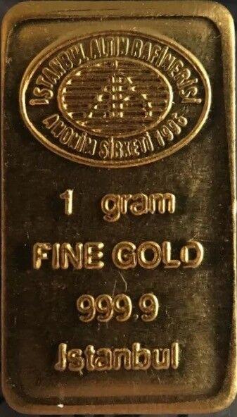 1 gram 24K 999 GOLD BULLION BAR LBMA CERTIFIED                (1-IGR-GBAR1G-gtc)