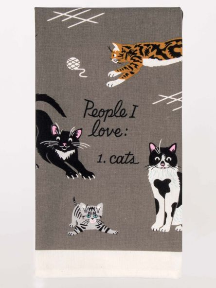 Blue Q Kitchen Novelty Dish Towel, Screen-Printed, People I