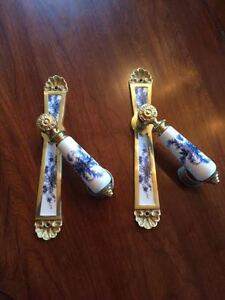 Two Sets of Delft Lever door handles and back plates  $45 Kingston Kingston Area image 3