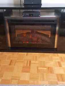 Meuble télé avec foyer électrique