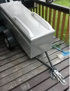 Motorcycle (or small car) cargo trailer