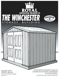 Looking to buy used royal products vinyl shed 8x10 or larger