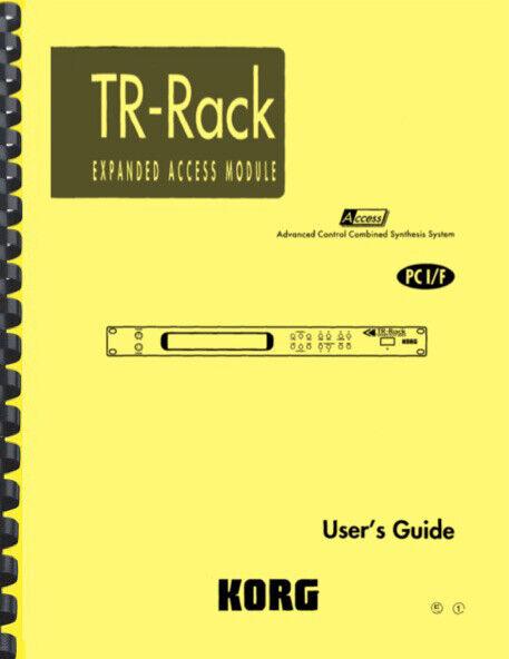 Korg TR Rack USER S GUIDE - $19.95