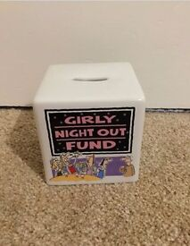 Girl's Girly Night Out Fund Money Box Birthday Gift Present