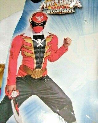Power Rangers Costume Super Megaforce RED Ranger Muscle Costume Boy's  Small 6](Power Rangers Megaforce Red Ranger Costume)